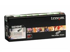 Lexmark 34016HE Toner, Single Pack, Zwart