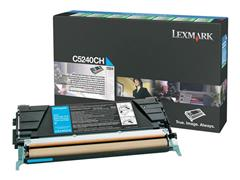 Lexmark C524 Toner, Single Pack, Cyaan