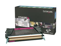 Lexmark C734 Toner, Single Pack, Magenta