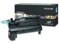 Lexmark C792 Toner, Single Pack, Zwart