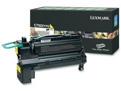 Lexmark C792 Toner, Single Pack, Geel