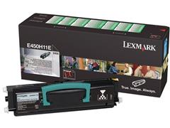 Lexmark E450 Toner, Single Pack, Zwart
