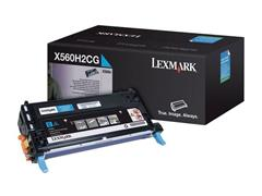Lexmark X560 Toner, Single Pack, Cyaan