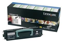 Lexmark X203 Toner, Single Pack, Zwart