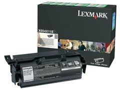 Lexmark X654 Toner, Single Pack, Zwart
