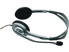 Logitech H110 On-Ear Headset, zilvergrijs