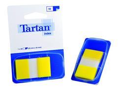 Index Tartan 25x43 geel/pad 50 stuks