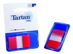 Index Tartan 25x43 rood/pad 50 stuks