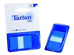 Index Tartan 25x43 blauw/pad 50 stuks