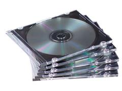 CD/DVD slimline case Met transparante bodem (pak 25 stuks)