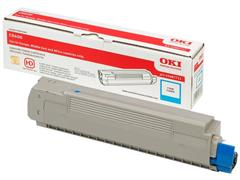 OKI 43487711 Toner, Single Pack, Cyaan