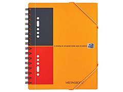 Oxford International Meetingboek 4-gaats, Gelinieerd, A5, Assorti (pak 5 x 80 vel)