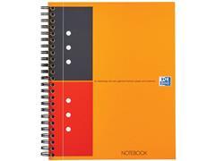 Oxford International Notitieboek 10-gaats, Gelinieerd, A5, Oranje (pak 5 stuks)