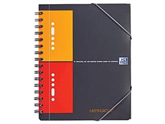 Oxford International Meetingboek 4-gaats, Geruit 5 mm, A5, Assorti (pak 5 x 80 vel)