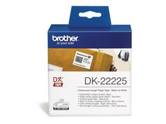 Brother DK-22225 Labels, Papier, 38 mm, Zwart op Wit (rol 30.48 meter)
