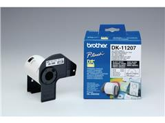 Brother DK-11207 Labels, Papier, diamater 58 mm, Zwart op Wit (rol 100 stuks)