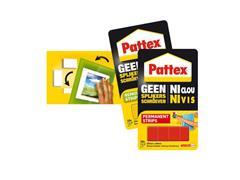 Pattex Montagestrip Non-permanent, geel, 10 strips (pak 10 stuks)