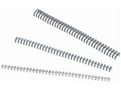 Draadrug 34 rings 6 mm 25 vel Zwart (doos 100 stuks)