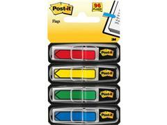 Post-it® Index Pijlen 12 mm, rood, blauw, geel, groen en paars