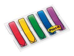 Post-it® Index Pijlen 12 mm, rood, blauw, geel, groen en paars (pak 5 blokken)