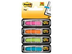 Post-it® Index Pijlen 12 mm, roze, cyaan, geel en groen (pak 4 blokken)