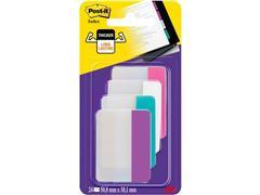 Post-it® Index Strong-markeertabs, 50,8 x 38 mm, assorti, verpakking van 24 (pak 24 stuks)