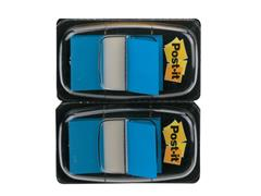 Post-it® Index Standaard Duopack 25,4 x 43,2 mm, blauw (pak 2 stuks)