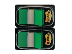 Post-it® Index Standaard Duopack 25,4 x 43,2 mm, groen (pak 2 stuks)