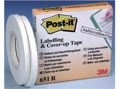 Post-it® ® cover up en labelling tape Breedte 4,2 mm, 1 regel (pak 2 x 18 meter)