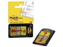 Post-it® Index met symbolen Vraagteken-symbool, 25 mm (pak 50 stuks)