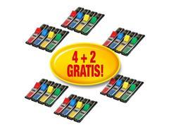 Post-it® Indexmarkers klein 11,9 x 43,1 mm diverse kleuren 16 x 35 verpakking met dispensers en 8 x 35 gratis 683-4 + 2 (pak 6 blokken)
