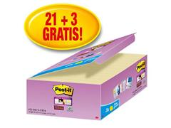Post-it® Super Sticky Zelfklevend Notitieblok, 48 x 48 mm, Geel (pak 24 blokken)