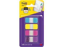 Post-it® Strong Mini-indexmarkers, 16 x 38 mm, verschillende kleuren (pak 40 stuks)