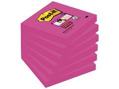 Post-it® Super Sticky Notes, 76 x 76 mm, Fuchsia (pak 6 x 90 vel)