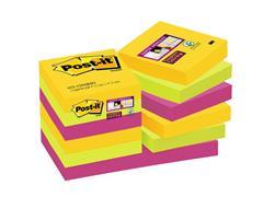 Post-it® Super Sticky Zelfklevend Notitieblok, 48 x 48 mm, Rio de Janeiro Kleuren (pak 12 stuks)