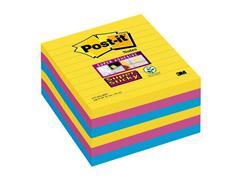 Post-it® Super Sticky Z-Notes Notitieblok, Gelinieerd, 101 x 101 mm, Assorti (pak 6 stuks)