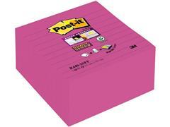 Post-it® Super Sticky Z-Notes Notitieblok, Gelinieerd, 101 x 101 mm, Roze (pak 5 blokken)