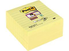Post-it® Super Sticky Z-Notes Notitieblok, Gelinieerd, 101 x 101 mm, Geel (blok 90 vel)