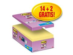 Post-it® Super Sticky Zelfklevend Notitieblok, 76 x 127 mm, Geel (pak 16 blokken)