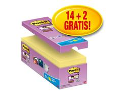 Post-it® Super Sticky Notes Canary Yellow™ Voordeelpak, 76 x 76 mm, Geel (pak 16 blokken)