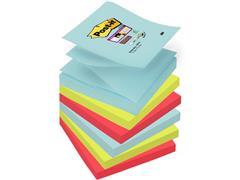 Post-it® Super Sticky Z-Notes Notitieblok, 76 x 76 mm, Assorti Miami Kleuren (pak 6 blokken)