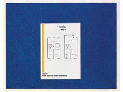 Post-it® Memobord zelfklevend 58,5 x 46 cm, lichtblauw marmer patroon