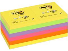 Post-it® Sticky Z-Notes Notitieblok, 76 x 76 mm, Assorti (pak 12 blokken)