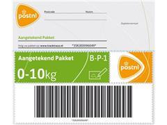 PostNL Pakketzegel Aangetekend Pakket tot 10 Kilo, Zelfklevend, Groen (set 5 stuks)