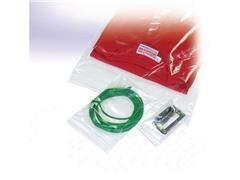 Pressel Plastic Zak, Druksluiting, 50 µm, 350 × 450 mm, Polyethyleen, transparant (pak 1000 stuks)