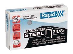 Rapid Super Strong Nietjes, 24/8, Roestvrij staal (pak 1000 stuks)