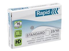 Rapid Standaardnietjes (23/10), 10 mm pootlengte, gegalvaniseerd staal, doos van 1000 (doos 1000 stuks)