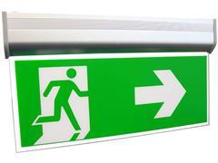 RELED Noodverlichting voor aan de wand of plafond + 3 pictogrammen