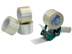Pressel Verpakkingstape Transparant 75 mm x 50 m Polypropyleen (pak 6 x 50 meter)
