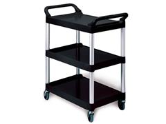 Rubbermaid Commercial Products Werkwagen x-tra cart 85,4 x 47,3 x 95,9 cm, 3 niveau's, zwart